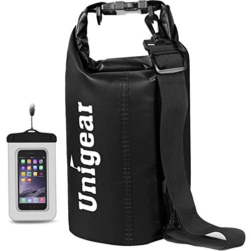 Unigear Dry Bag Waterproof, Floating and Lightweight Bags for Kayaking, Boating, Fishing, Swimming and Camping with Waterproof Phone Case, 2L 5L 10L 20L 30L 40L