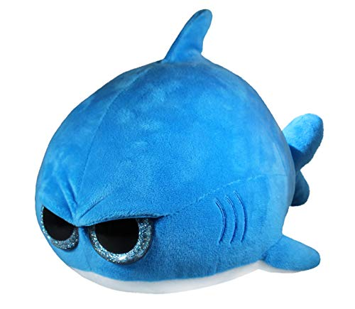 Grumpy Shark - Cute Super Soft Squishable Plush Stuffed Animal Toy (Angry Glitter Eyes) - Large 12 Inch - Unique Funny Gift for Kids and Adults