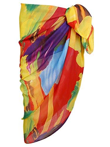 Ayliss Womens Swimwear Chiffon Printed Cover up Beach Sarong Pareo Bikini Swimsuit Wrap,#28