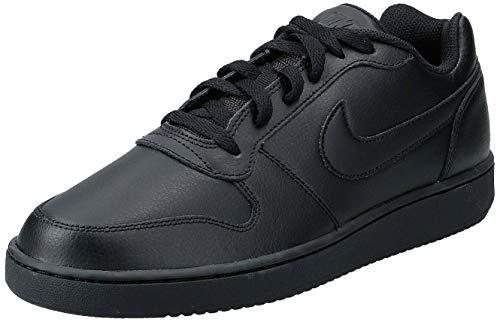 Nike Men's Ebernon Low Basketball Shoe, Black/Black, 14 Regular US