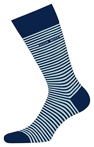 BOSS Herren Marc RS Stripe CC Socken, Open Blue494, 43-46