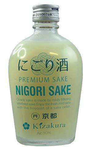 [ 300ml ] KIZAKURA Sake Nigori/ungefilterter Sake aus Japan, alc. 10% vol/premium sake
