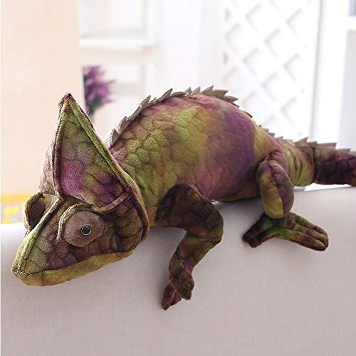 N / A Red And Green Chameleon Plush Toy Simulation Lizard Soft Pillow Sofa Cushions Personalized Home Decorations Creative Gift 70cm