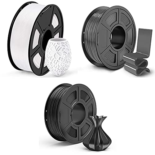 Queta 3Stücken PLA Filament 1.75mm, 3D Drucker Filament für 3D Printer, 1,75mm PLA Filament, 1kg Spule…