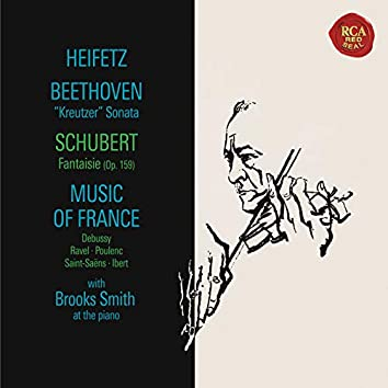 """Beethoven: Sonata No. 9 in A Major, Op. 47 """"Kreutzer"""" - Schubert: Fantasie in C Major, D. 934 - Debussy: Chansons de Bilitis & Children's Corner - Ravel: Valses nobles et sentimentales - Poulenc: Mouvements perpétuels ((Heifetz Remastered))"""