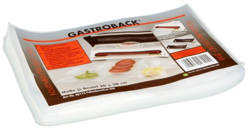 Gastroback 46115 Set of Foil Bags ? 20 x 30 cm for Vacuum Sealer, 1er Pack