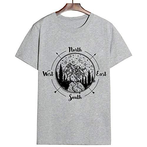 Camiseta para Mujer Camiseta Moda Streetwear Camiseta Hipster Estética Mujer Camisetas Camiseta