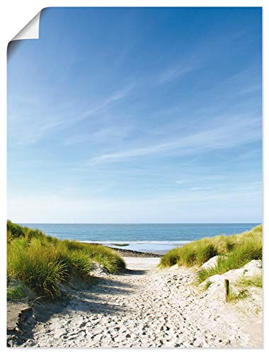 Artland Poster Kunstdruck Wandposter Bild ohne Rahmen 45x60 cm Strand Meer Küste Nordsee Sand Dünen Natur Landschaft Maritim T9EX