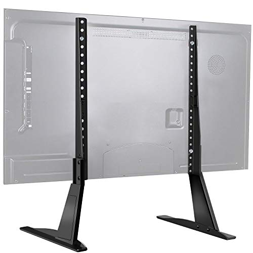 PERLESMITH Universal Table Top TV Stand for 22-65 Inch Flat Screen, LCD TVs Premium Height Adjustable Leg Stand Holds up to 110lbs, VESA up to 800x500mm
