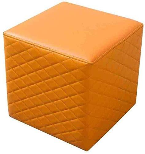 CHU N1 Fußschemel, gepolstertes Sofa Hocker Sitzpolster Couchtisch Hocker Doorway Schuh ändern 108 (Color : 2, Size : Square)