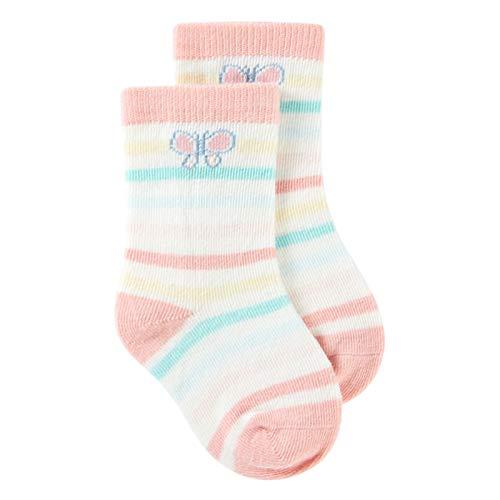 LUO Calcetines Calcetines de Piso Antideslizantes de bebé y Femenino, Calcetines para niños pequeños, Suaves y Transpirables, de algodón, 0-4 años, 1 par (Color : Pink, Size : 1-2 Years Old)