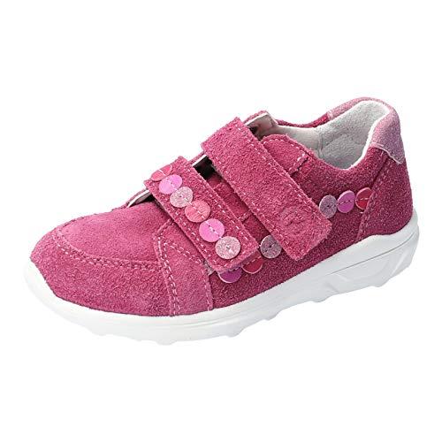RICOSTA Kinder Low-Top Sneaker NENA, Weite: Mittel (WMS), Maedchen Kinderschuhe Spielen verspielt detailreich Freizeit,Fuchsia,32 EU / 13 Child UK