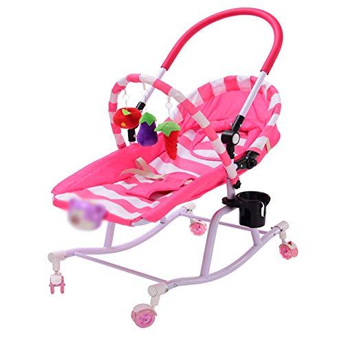 Baby GOUO@ 2-en-1 pour Bébé Bouncers Balance Toddler Rocker Rocking Chair Nouveau-Né Lit Berceau Confortable Chaise Sleeping Chair pour Enfants avec Roues
