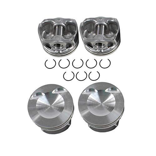 DNJ P805 Piston Set for 2008-2013 / Audi, Volkswagen / A3, A3 Quattro, A4, A4 Quattro, A5, A5 Quattro, A6, A6 Quattro, Beetle, Eos, GTI, Jetta, Passat, Q5, Tiguan, TT, TT Quattro / 2.0L / DOHC / 16V