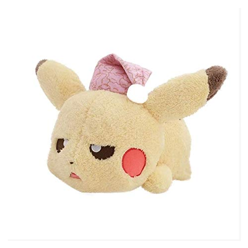 Pokémon Anime Pikachu Peluche Muñeca Aterrizaje en los Cuatro Animales de Dormir Perezosos Lindos Lindo Amarillo Toys Decoraciones Regalos Regalos Reino Unido 38 * 22 cm Pikachu Plush Peluche Pikachu