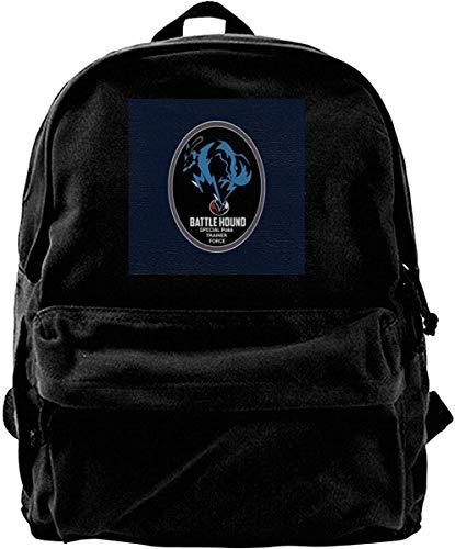 Canvas Rucksack Metal Gear Solid Battle Hound Monster der Tasche Trainer Force Rucksack Gym Wandern Laptop Umhängetasche Daypack für Männer Frauen
