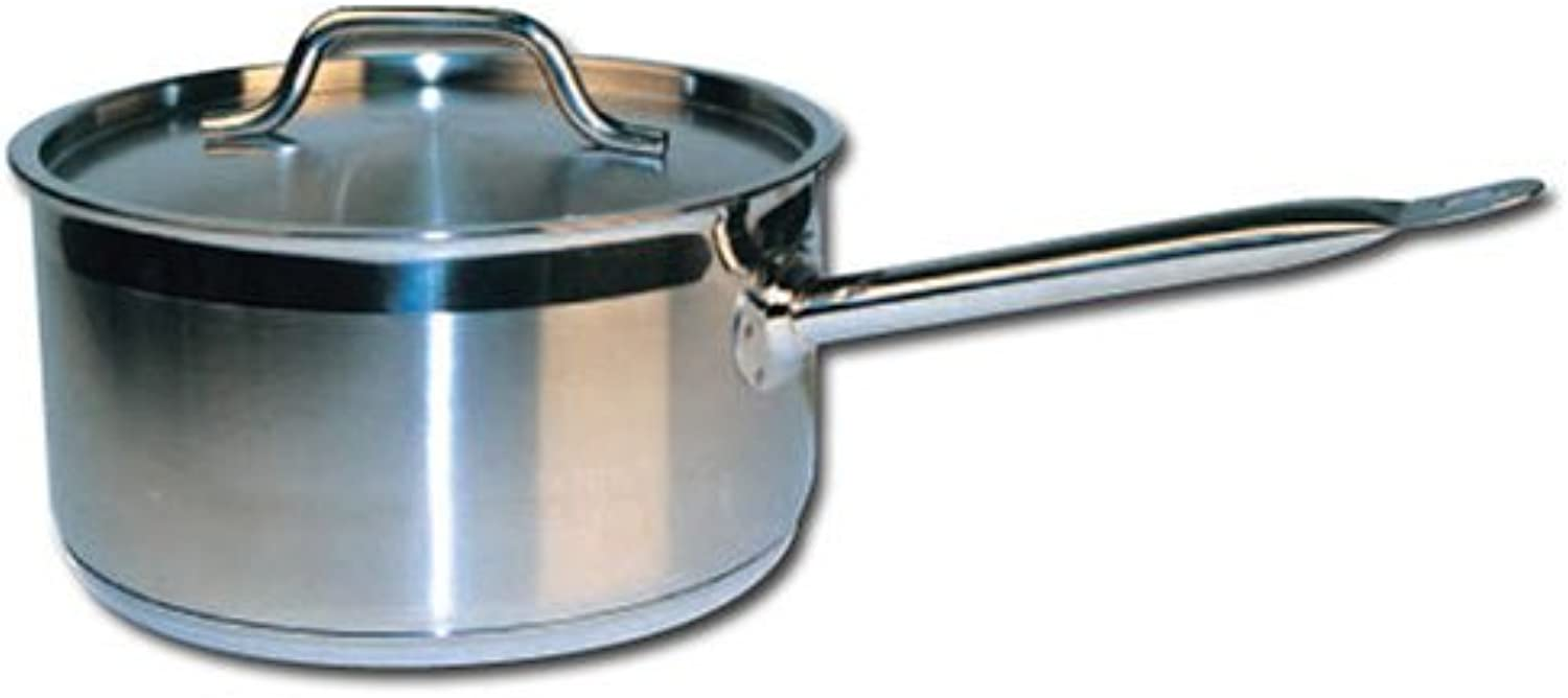 Winware Stainless Steel 10 Quart Sauce Pan with Cover