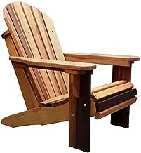Premium Western Red Cedar Wood Adirondack Chair (Rosewood Oil Finish)
