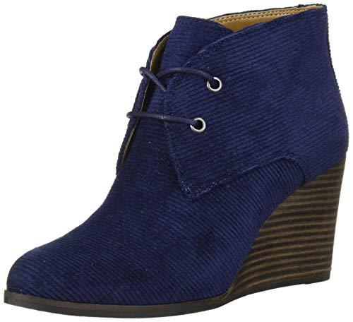 Lucky Brand Women's SHIIJO Ankle Boot, Indigo, 8 M US