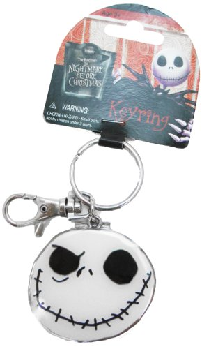 Disney Nightmare Before Christmas Good Day and Bad Day Color Pewter Keyring