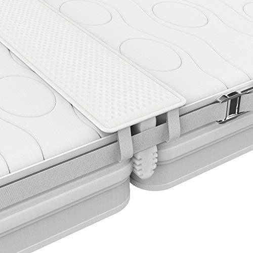 FLIPLINE Liebesbrücke 200x18 cm All-In-One Premium Set mit rissfestem Bezug, Spanngurt und Transporttasche - Für doppelte Matratzenfläche ohne nachjustieren in 5 Min