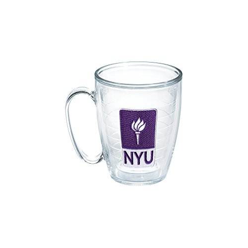 Tervis New York University Emblem Individual Mug, 16 oz, Clear