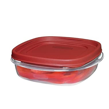 Rubbermaid 711717427300 Easy Find Lids Square 3-Cup Food Storage Container (Pack of 6)