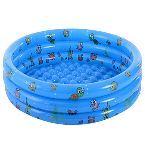 Inflable Piscina para Niños, Portátil Bebé Redondo Piscina Interior Y Exterior del Niño Juego De Agua Centro De Juegos para Niños/Niñas/Niños,Azul