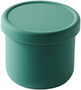 Small Silicone Bento Boxes Microwave Freezer Safe Mini Silicone Bowl with Lids for Dessert,Fruit,Snack,Baby Toddler Food Feeding Bowls Portable Baby Food Storage Container(green)