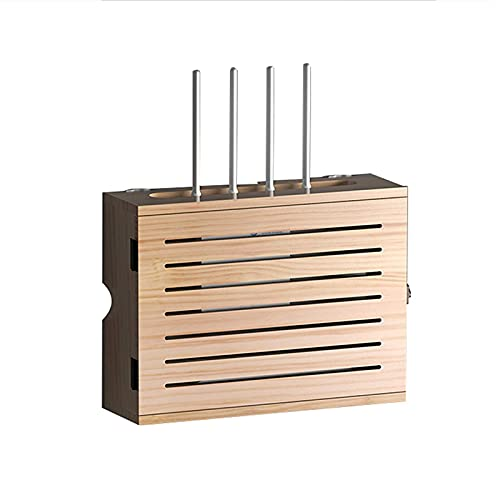 XLBHSH WiFi Router Shelf Power Strip and Cable Management Storage Box TV Set-top Box Hider Rack Desktop Organized Wall Shelves,A,36 * 11.5 * 27.5cm