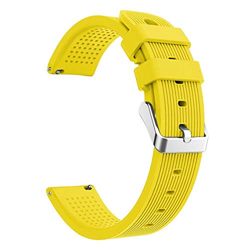 Golden.Y, Cinturino in Silicone da 20 mm per Huami Amazfit Smart Band Fitness Tracker Accessori Cintura per Xiaomi Amazfit Bip Wristband Strap per Huami Yellow