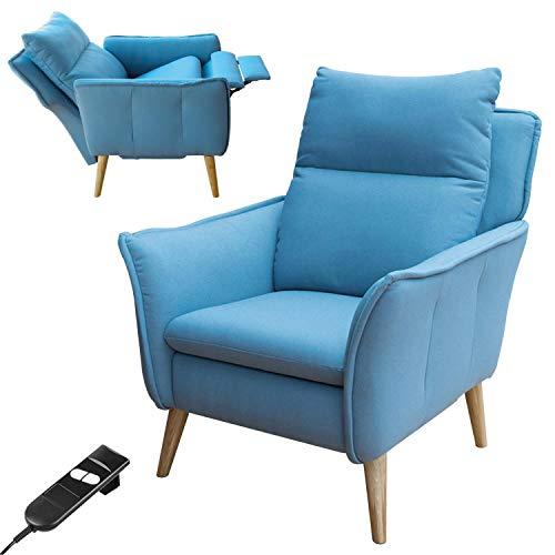 place to be. Sillón de relax motorizado con función reclinable sin niveles, roble macizo, color salvia