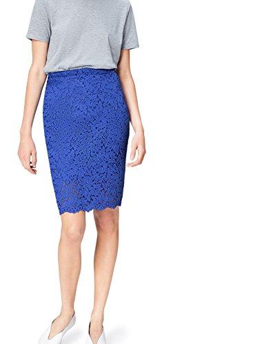 FIND Lace Falda para Mujer, Azul (Dazzling Blue), 36 (Talla del Fabricante: X-Small)