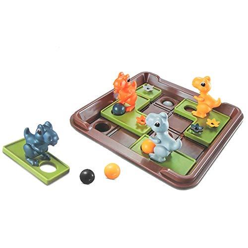 Smart Games Dinosaurier Mobile Geheimnisvolle Inseln,Puzzle Brettspiel Reflexion Spiel,Eltern-Kind-interaktion Spielzeug Für Wettbewerb Logik Argumentation Training Spaß26x18,5x7 cm