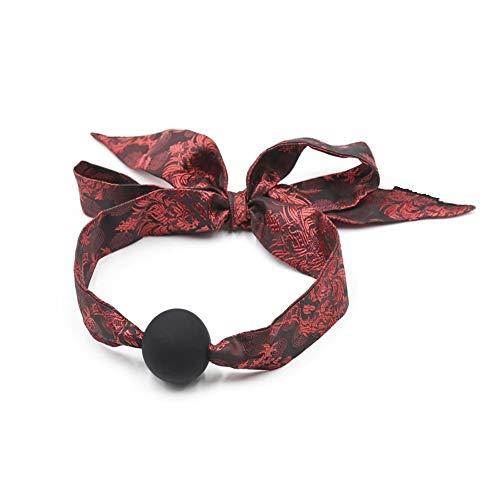 Bondaire® Gàgbàll color negro con cinta fabricada en raso