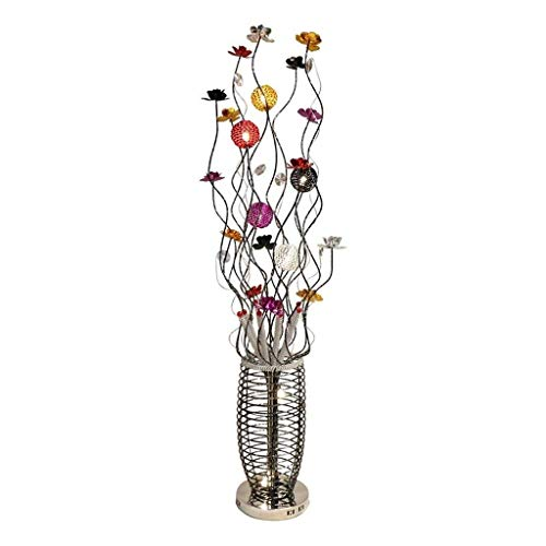 SXRKRZLB Lámparas de pie Led Lámpara Colorida Personalidad Pastoral decoración Creativa de la Sala de Estar Dormitorio lámpara de cabecera Flores de Aluminio