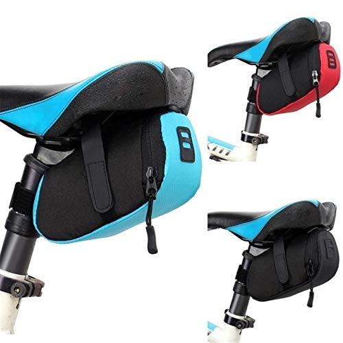 Nueva bolsa de sillín de bicicleta Bicicleta de nylon bicicleta bicicleta impermeable almacenamiento bolsa de montar asiento ciclismo cola trasero bolsa bolsa de montar bolsa accesorios de bicicleta