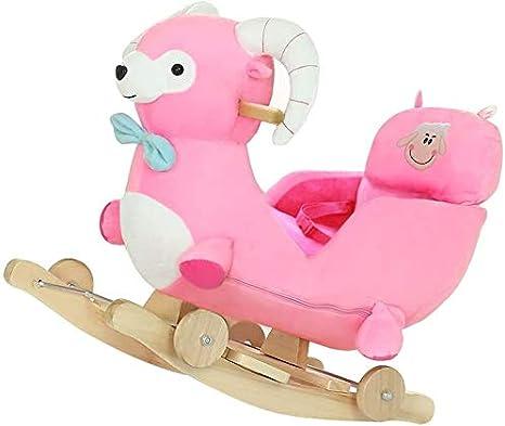 ZHANGYUEFEIFZ Caballito Balancín de Peluche Balancín Caballo Rocking Horse Baby Trojan Toy Toy Gift Linda Silla para Niños Cochecitos Música Shake Horse Baby Cradle Trolley Rueda Universal