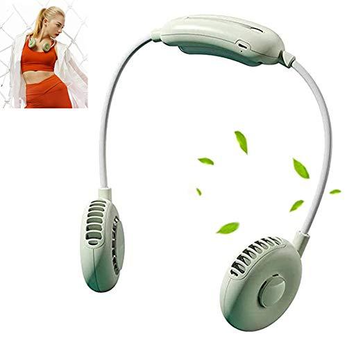 APOE Ventilador de Cuello Colgante, Portátil USB Recargable Mini Sin Hojas Ventilador de Manos Libres, Ventilador Neck Fan Ideal para Oficina, Viajes, Deportes al Aire Libre