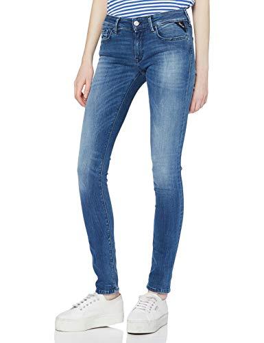 Replay Damen LUZ Skinny Jeans, Blau (Dark Blue 7), 27W / 30L
