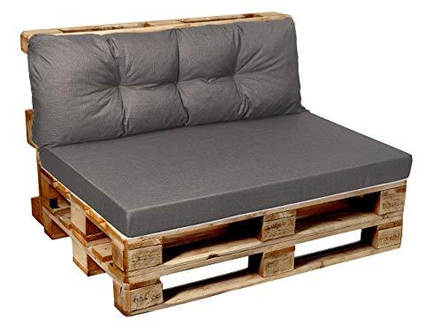 Garden Factory - Sedile con cuscini fatto con Euro Pallet, per interni ed esterni, 120x80, 120x60, 120x50, 120x40 v1