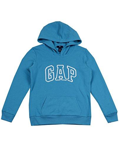 GAP - Sudadera con capucha y logotipo de forro polar para mujer, Color verde...
