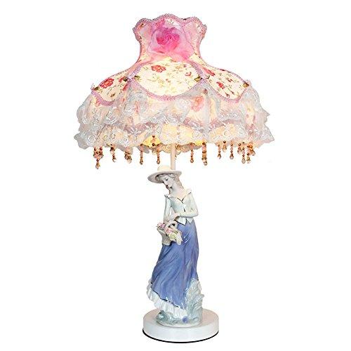 AIKE Europeo, Lusso, Design Classico oscuramento LED Desk Lampada, con Artigianato, Porcellana Fatto Principessa Bambola Progettato Corpo per Camera da Letto, Soggiorno, Decorazione, Regalo Femminile