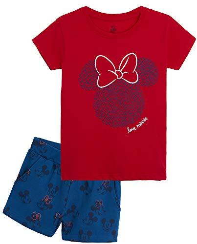 Disney Topolina Pigiama Estivo Bambina, Set Pigiami Estivi con Maglietta Minnie Mouse E Pantaloncini Mickey, Completo Estivo Bimba 100% Cotone, Idea Regalo Compleanno Ragazza 8-14 Anni (10 Anni)