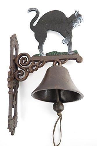 Wandglocke Türglocke KATZE 2 Gußeisen Katze Glocke Metall Schiffsglocke Gartendeko