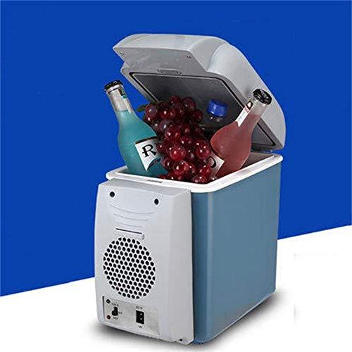 QJY Koeltas, elektrisch, koeler voor thuis, klein, 7,5 l, mini-koelkast, draagbaar, koeling/verwarming voor reizen, camping, vissen, slaapkamer