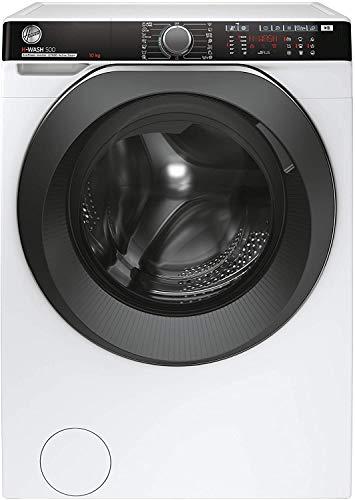 Hoover HWPD 610AMBC 1-S H-WASH 500 PRO Lavatrice Smart 10 Kg, 1600 Giri, Wi-Fi + Bluetooth, Carica Frontale, Funzione Vapore, Motore Inverter, Libera Installazione, 60-58-85 cm, Bianco, Classe A