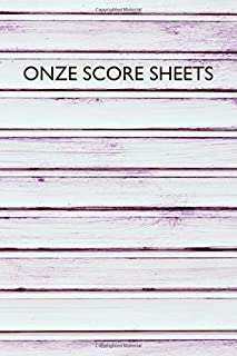 Onze Score Sheets: A pad of scoresheets: Perfect for scorekeeping: Shiplap wood cover