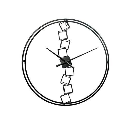 SWNN Relojes de Pared De Manera Simple Sala De Estar Decoración del Hogar Sin Marco Relojes Decorativos De Metal Nórdico Reloj De Pared 60cm * 60cm * 6cm