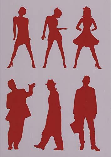 Art LIFE Schablone Menschen zum Malen und Zeichnen A4, 21 x 29 cm, Stencil, Frauen, Männer